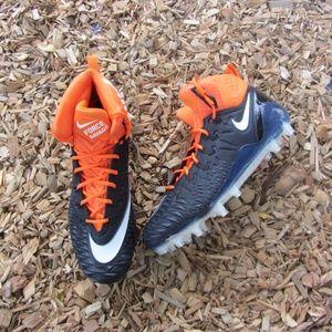 Nike Force Savage Orange Black Football Cleats